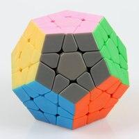 Brand New DaYan Megaminx 1-rank Dodecahedron Stickerless Velocità Di Puzzle Cube Giocattoli per il Capretto Bambino Spedizione Gratuita
