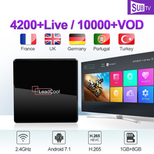 IPTV France Arabic Italy Canada SUBTV Leadcool X Android 7.1 1G+8G S905W Italian Code
