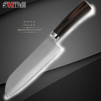 SHINE High Quality 7 Inch Kitchen Japanese Cook S Knife 33 Layers Damascus Stlye Steel Strong
