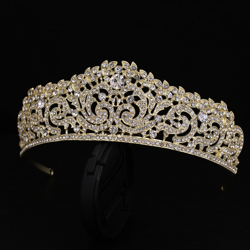 Wedding Bridal Bridesmaid Flower S Gold Color Crystal Tiara Crown Headband Hairwear In Hair Jewelry From Accessories On Aliexpress