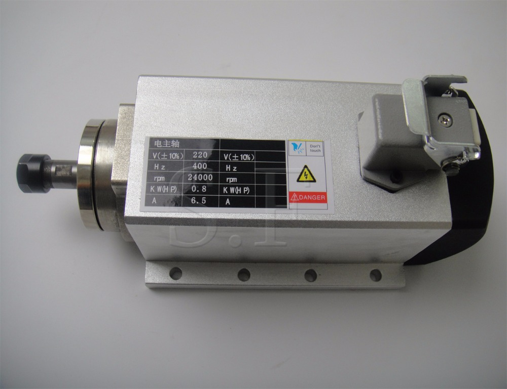New! 800W spindle motor air cooled spindle motor ER11 cnc spindle motor new product 220v 2 2kw cnc air cooled spindle motor er16 air cooling 4 bearing
