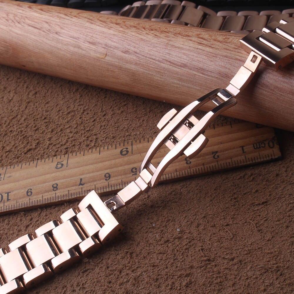 솔리드 링크 스테인레스 스틸 시계 밴드 스트랩 곡선 끝 삼성 갤럭시 42mm 시계 rosegold 밴드 너비 20mm 고품질-에서워치 밴드부터 시계 의  그룹 2