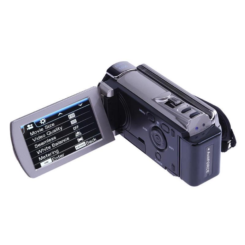 Détail 1080P Usb2.0 intelligent sans fil Wifi Dvr Hdv-6052Sr 3 pouces 16X Wi-Fi numérique Ir caméra de nuit Hd 1080P 8Mp caméscope vidéo - 4