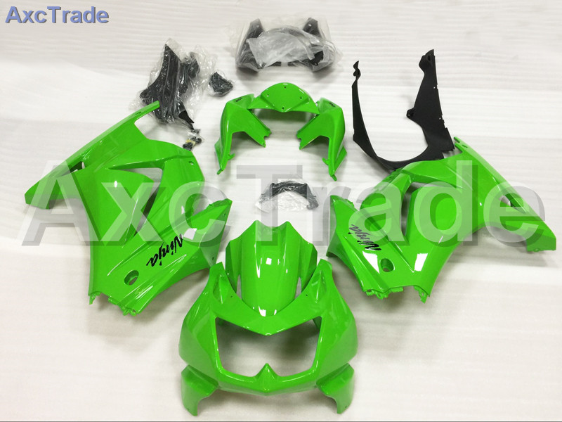 Motorcycle Fairings For Kawasaki Ninja 250 ZX250 EX250 2008-2012 08 - 12 ABS Plastic Injection Fairing Bodywork Kit Green A654 moto motorcycle fairing kit for kawasaki ninja zx10r zx 10r 2008 2009 2010 08 09 10 abs plastic fairings fairing kit white black