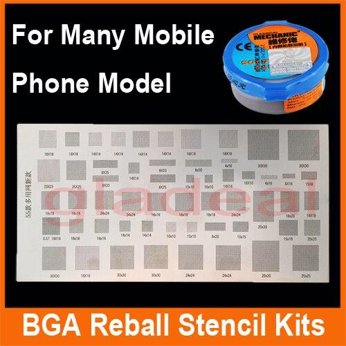 3 PCS/Lot Multifonction IC Puce BGA Rebillage Chaleur Station de Reprise Pochoir Kits de Soudure modèle pour Samsung iPhone HUAWEI etc