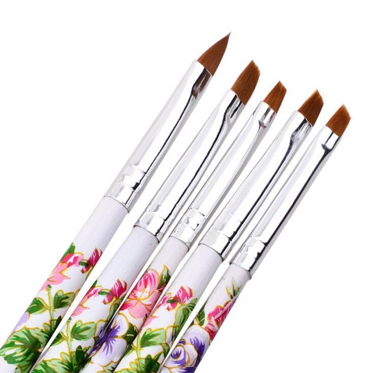 5pcs/Lot Nail Painting Drawing French Manicure Nail Art Brush ...