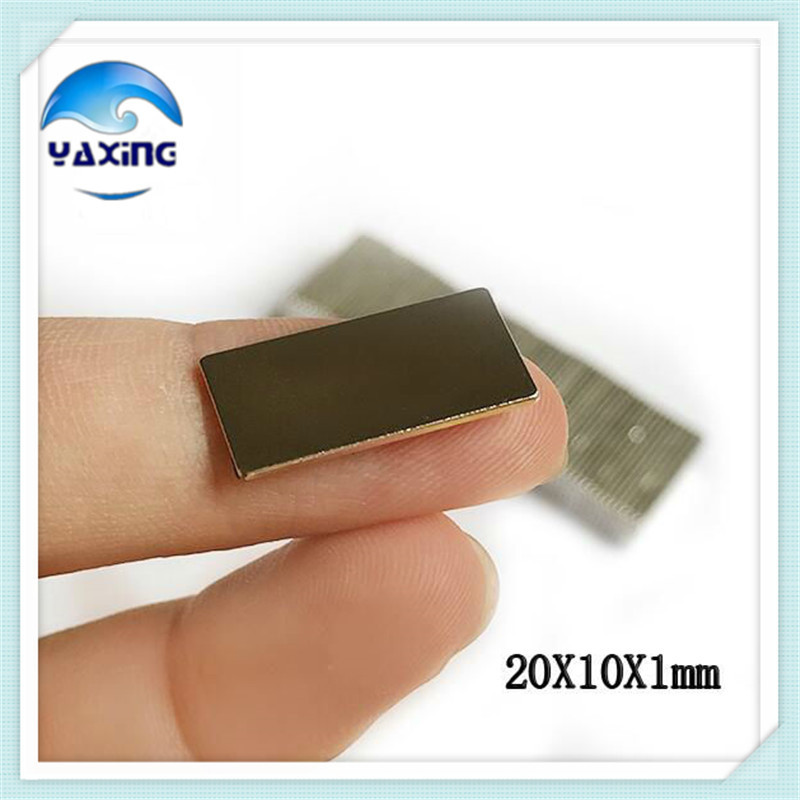 20PCS Magnet 20 x 10 x 1 mm N35 Super Strong Block Neodymium Magnets 20*10*1mm Block Strong Rare Earth Magnet Free Shipping hakkin 5pcs super strong neodymium magnet block cuboid rare earth magnets n35 20 x 10 x 2mm