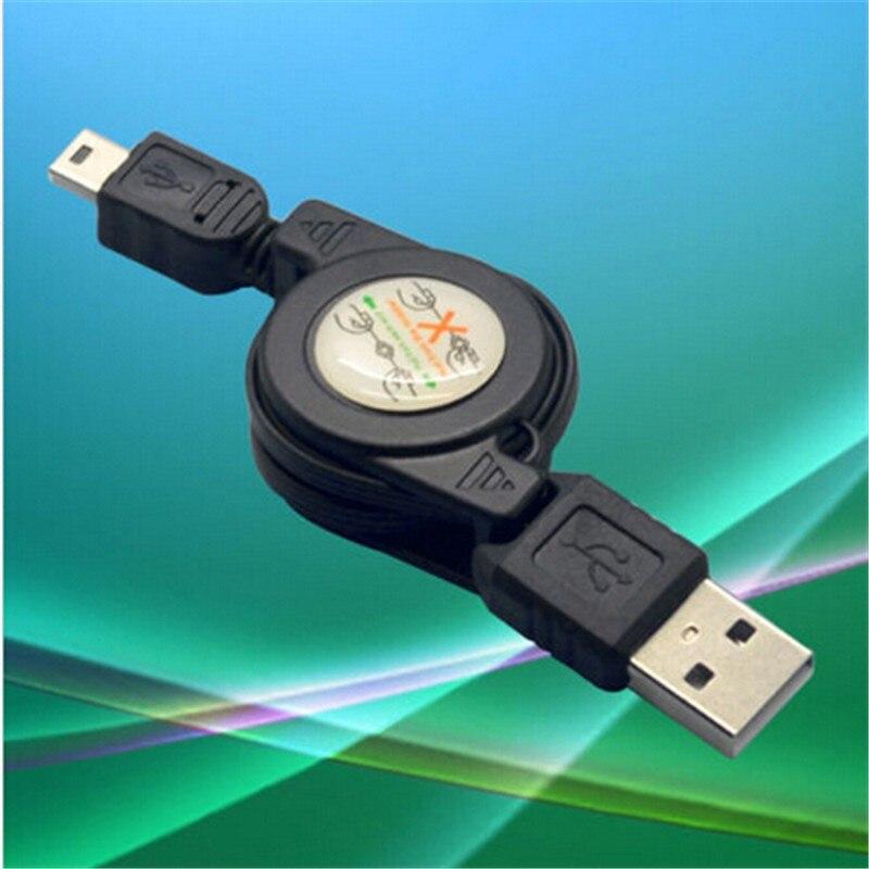 Горячие Продажи Черный USB Мужчина к Мини-usb B 5 Контактный Разъем Зарядки Кабель Синхронизации Данных Выдвижной 1 шт. Бесплатная доставка