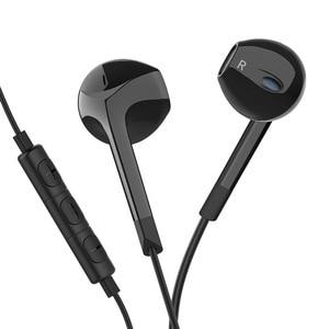 Image 2 - Langsdom Auriculares deportivos E6U con cable, auriculares intrauditivos portátiles estéreo con Supergraves, para videojuegos, música, micrófonos