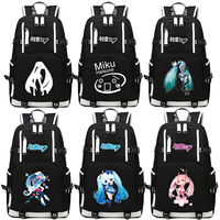 2019 New VOCALOID Hatsune Miku Printing Backpack Large Capacity Kawaii Women School Bags Laptop Student Computer Travel bag
