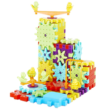 DIY Creative Educational Toy 81pcs/Lot Colorful Gear Plastic Building Blocks Toys for Children Birthday Gift Blocks Toys Kids