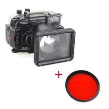 Meikon 40m/130ft Waterproof Housing Case + Red Filter 67mm for Fujifilm X-pro2(16-50mm),Underwater Diving Camera Housing Bags