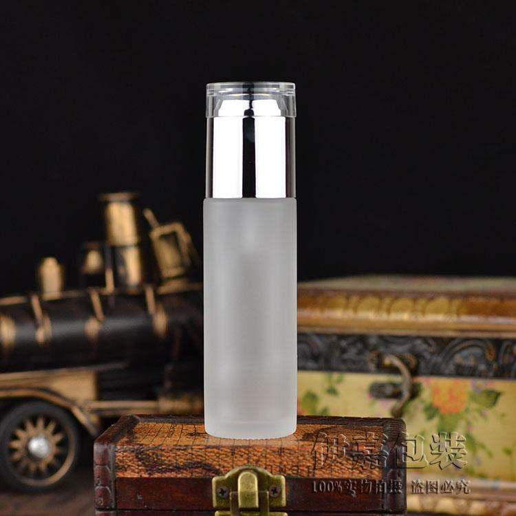 300pcs 60ML Frosted Glass Bottle Press for pump Emulsion essence packaging glass bottle cosmetic packaging container