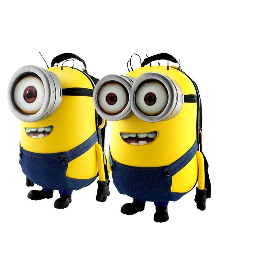 Minions cute 3D cartoon sound kid hardside schoolbag kids school bags boys girls children backpack backpacks - Miles'shop store