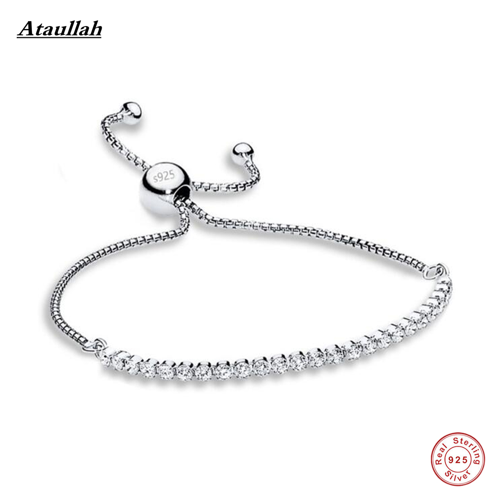 Delicate Bead 925 Sterling Silver Bangles&bracelets Fine Jewelry for Women Gift Bangle Brand Ataullah BSW433 ztung hb20 charm bracelets classic 925 sterling silver have many color for women s girls wonderful gift jewelry bangle