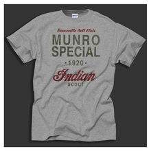 Monro Special 1920 Speed Record Indian Bike Distressed Print Grey T-shirt  Harajuku Tops t shirt Fashion Classic Unique