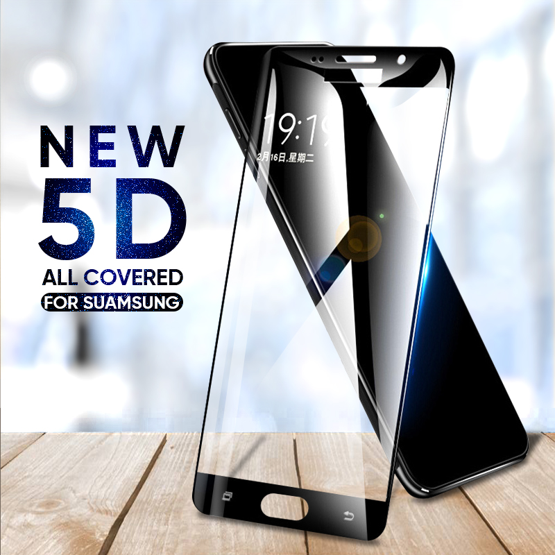 5D 9 שעתי מזג זכוכית עבור Samsung Galaxy A3 A5 A7 2016 2017 S6 S7 מסך מגן עבור סמסונג A5 a7 A8 בתוספת 2018 זכוכית סרט