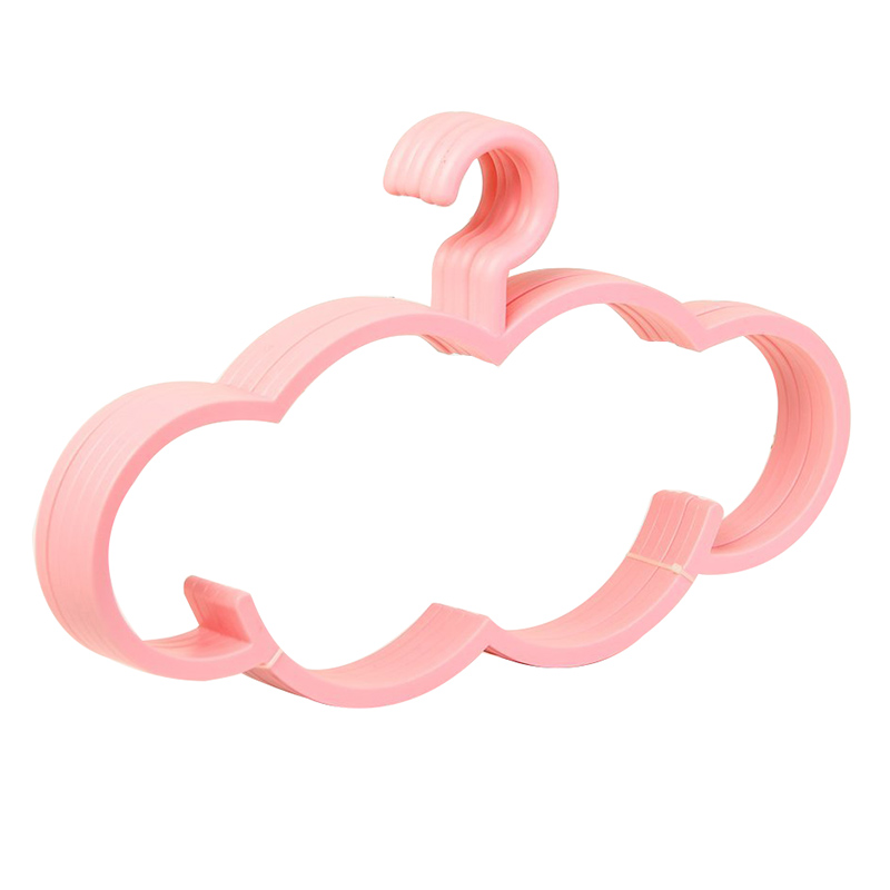 Premium Suit Hangers Cloud Shape Heavy Duty Non Slip Specially Designed for Large Clothes Coat Sweater Overcoat Pink,Pack of 10