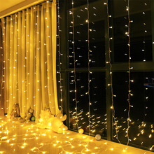 3x1.5M 3x2M 3x3M Curtain LED Icicle Fairy String Christmas Garland Wedding Party Window Outdoor Docer Light
