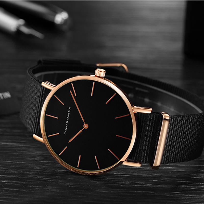 Japan Quartz Movt Men full Black Slim Simple Unisex Wristwatch Fashion Brand Sport Casual Waterproof Watches relogio masculino