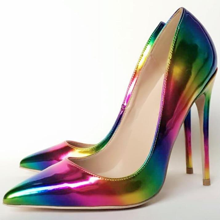 Sexy Stripes12cm 43 Größe Keshangjia 8 Zehe Mehrfach Farbe 34 Plus Schuhe Punkt Nachtclub Heels Pumps Cm High Frau 10 Frauen tUqRB7wxq