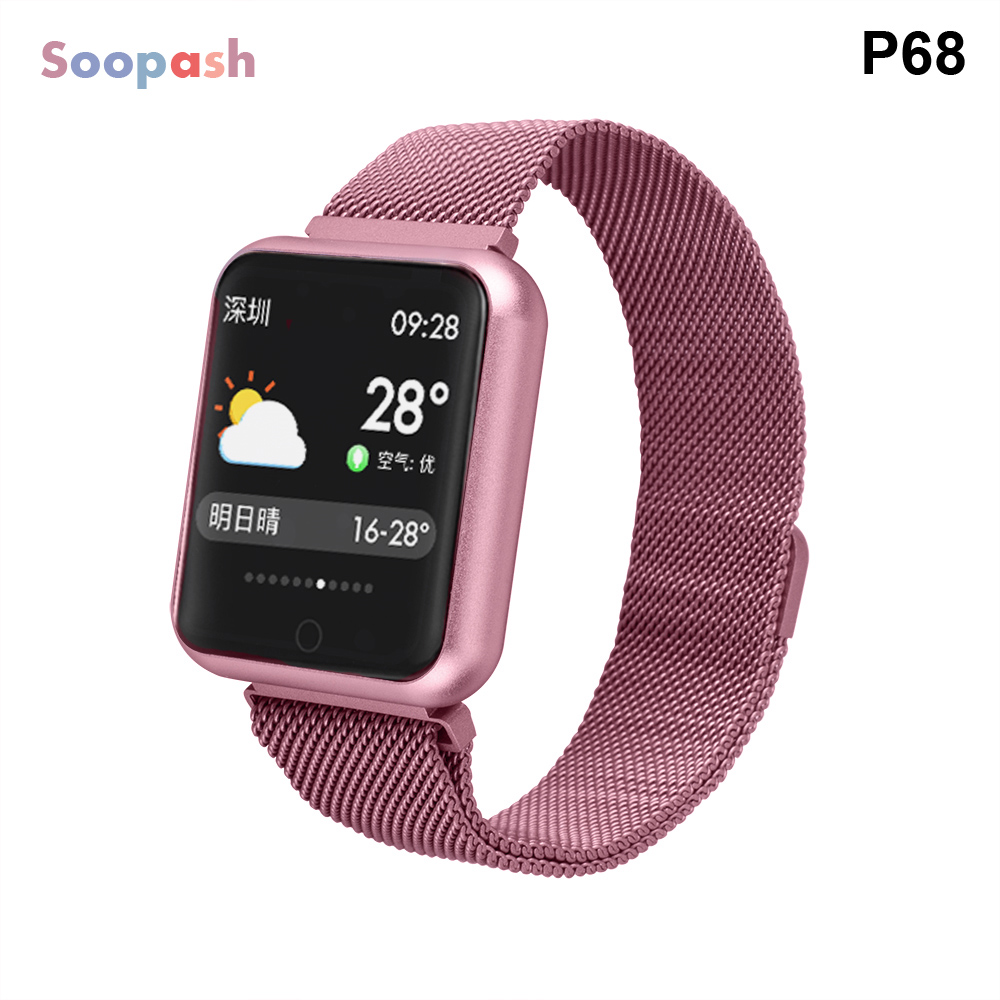 Smart Watch P68 Men Women Blood Pressure Heart Rate Monitor Sports Tracker Smartwatch IP68 Connect IOS Android PK dz09Smart Watch P68 Men Women Blood Pressure Heart Rate Monitor Sports Tracker Smartwatch IP68 Connect IOS Android PK dz09