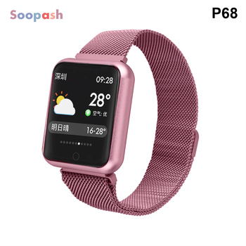 Smart Watch P68 Men Women Blood Pressure Heart Rate Monitor Sports Tracker Smartwatch IP68 Connect IOS Android PK dz09 - sale item Smart Electronics