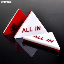 Все в дилера Кнопка нажатия треугольник акриловые техасский холдем покер казино бело-красный все в