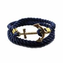 Якорь изящных модный веревка vintage модные изделий ювелирных браслет аксессуары мужчины