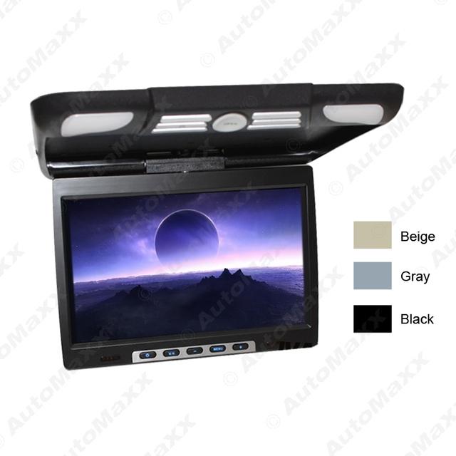 """Dc12v 14.1 """" pulgadas del coche / autobús TFT LCD montado en el techo Monitor , tapa de Monitor 2-Way vídeo entrada 3-Color j - 1290"""