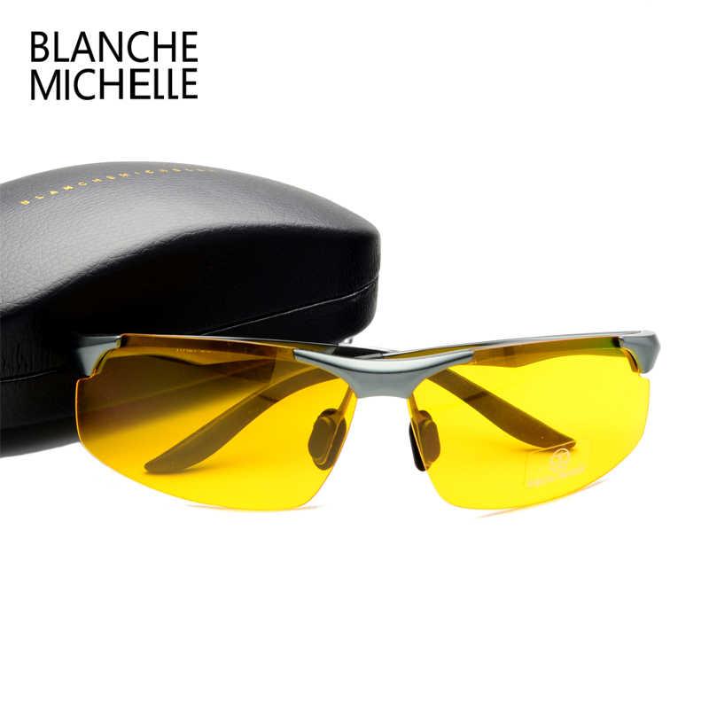7cf5ff0807 ... 2018 Aluminum Magnesium Men Sunglasses Polarized Sports Driving Night  Vision Goggles Sunglass Fishing UV400 Rimless Sun ...