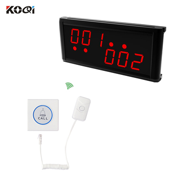 Nurse Call System Wireless 1 display receiver 6 patient bed buzzer Hotspital Easy To Use Long Range Strong signal