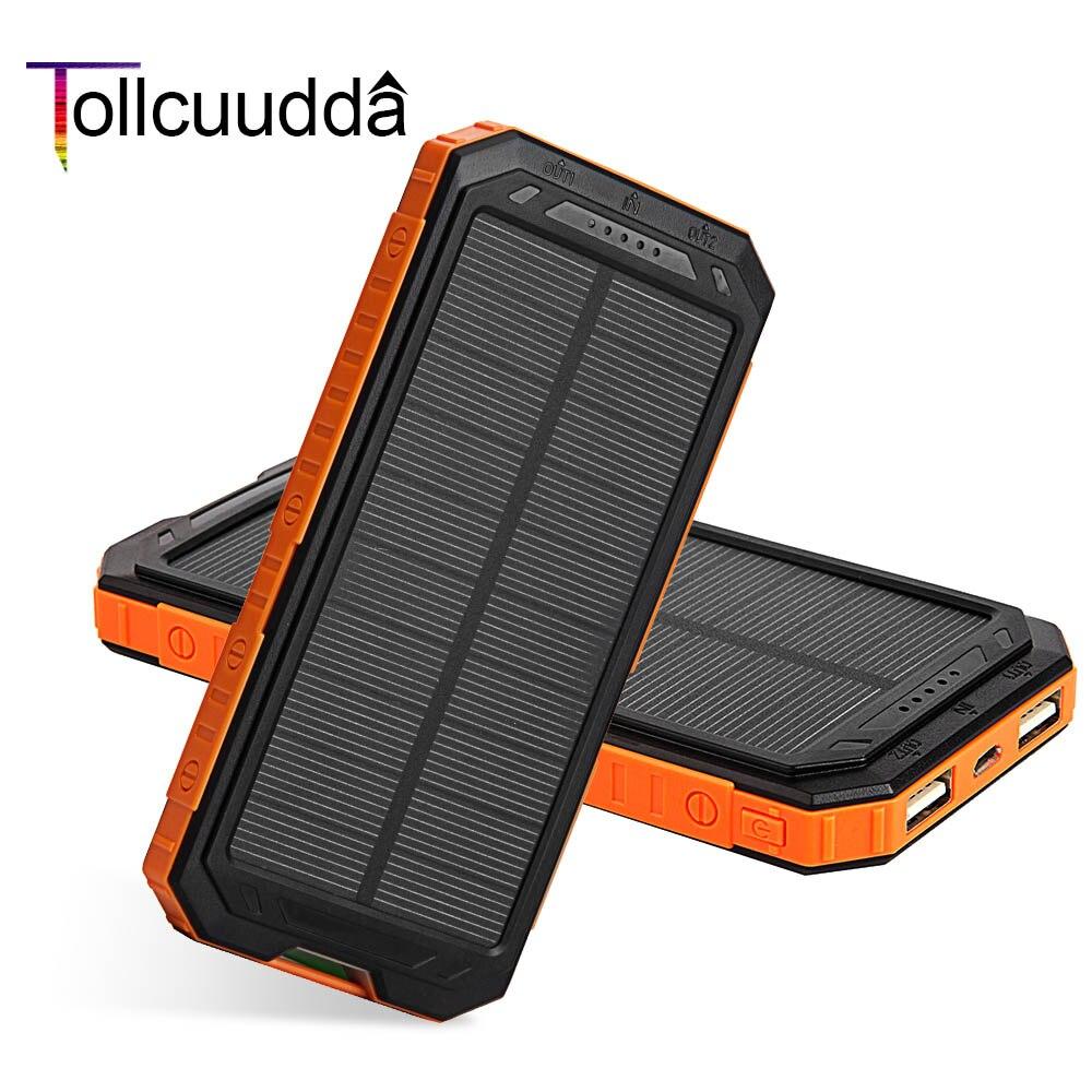Tollcuudda solar power bank batería externa cargador portátil powerbank linterna