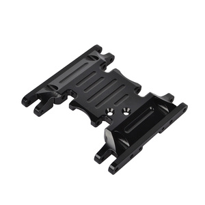 Image 5 - Aluminum Alloy Skid Plates gear box bottom mount for Axial SCX10 II 90037 90046 90047 90058 AX31379