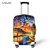 Accessories Travel On Road Luggage Cover 3D Oil Painting Eiffel Tower Suitcase Protective Cover 30 inch Trunk Case Covers