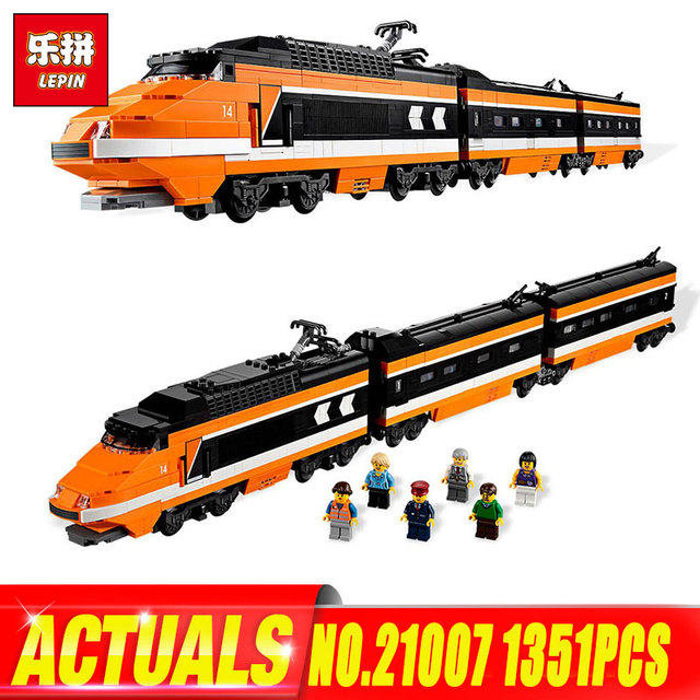 Lepin 21007 Technic Series The Horizon Express Model legoing 10233 Toys  Classic Motorized Train Building Blocks