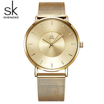 Shengke Women Bracelet Watches Luxury Gold Female Quartz Watch Reloj Mujer 2019 SK Ladies Watches Christmas Gift #K0059 - DISCOUNT ITEM  45% OFF All Category