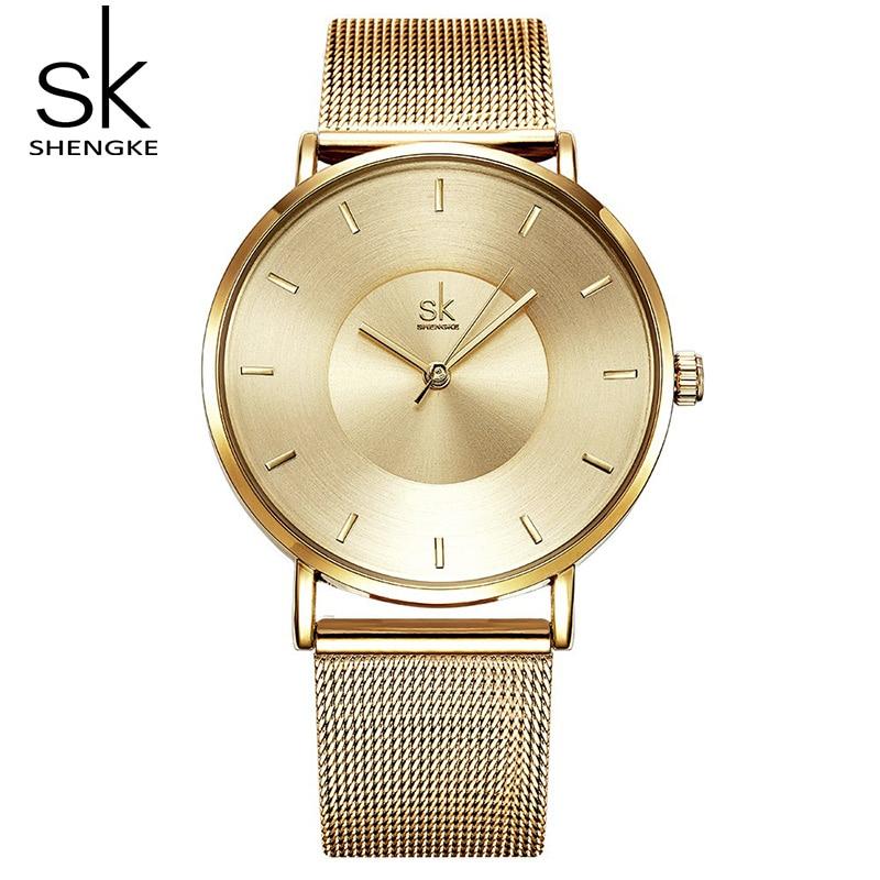 Shengke Women Bracelet Watches Luxury Go