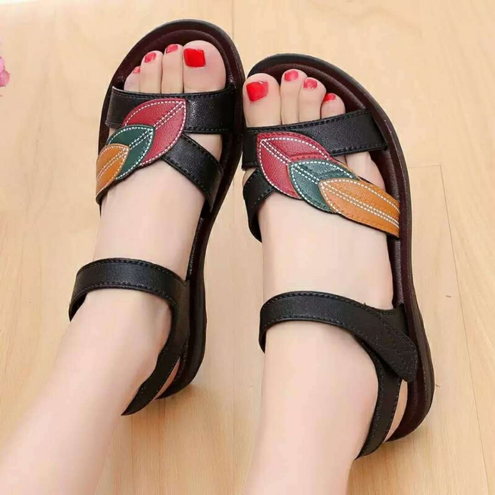 Summer Genuin Leather Sandals Women Flats shoes Female Summer Beach Shoes Casual Ladies Sandalias Mujer Chaussures Femme 2019Summer Genuin Leather Sandals Women Flats shoes Female Summer Beach Shoes Casual Ladies Sandalias Mujer Chaussures Femme 2019