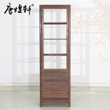 Mahogany furniture wenge wood single door glass wine cabinet living room display cabinet cabinets factory direct Chinese