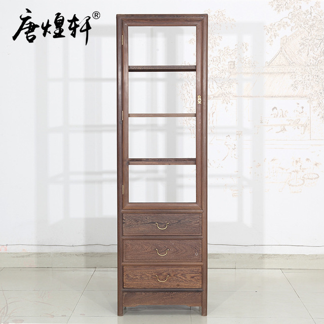 Mahogany Furniture Wenge Wood Single Door Gl Wine Cabinet Living Room Display Cabinets Factory Direct Chinese