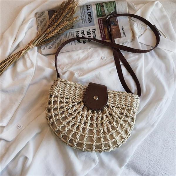 Summer Rattan Bags Women...
