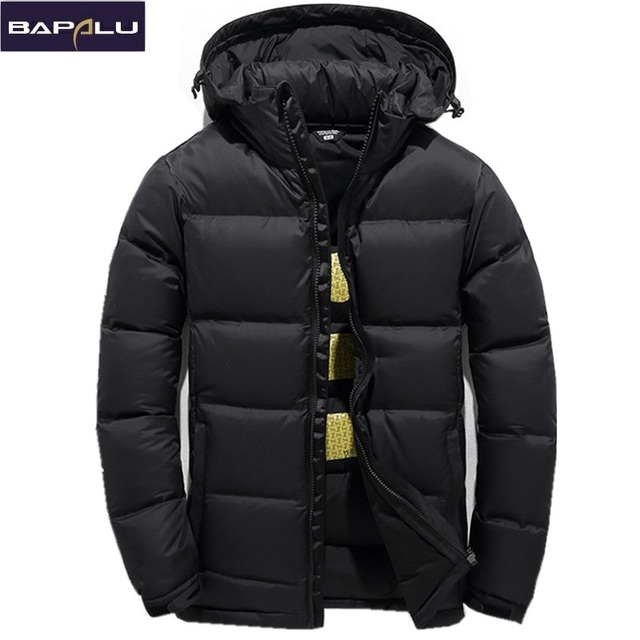 8747fccfc2f 2018 Men's Down Jacket Warm White Duck Winter Coat Hooded Mens Waterproof  windbreak Male Casual hoodie Jacket Coat
