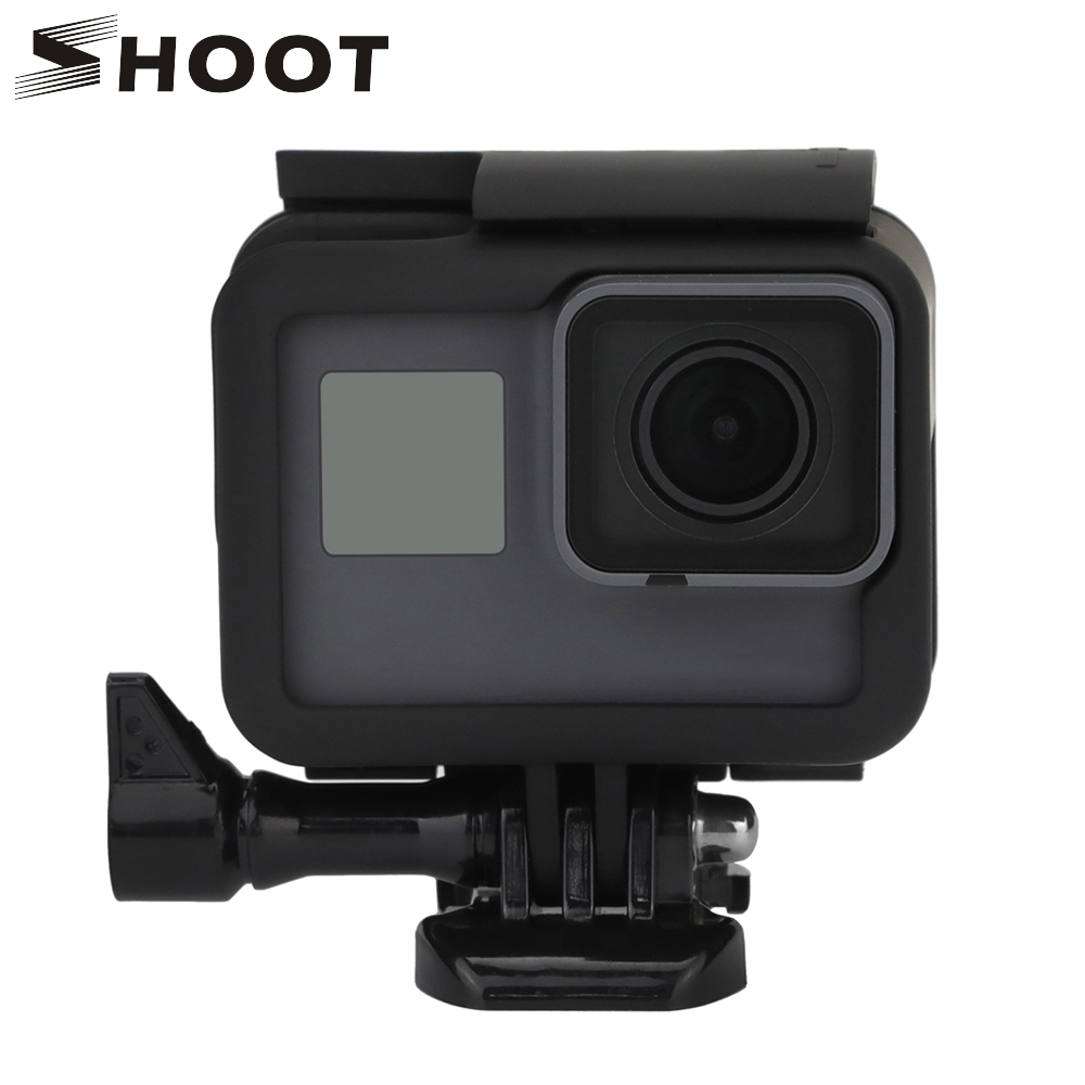 SHOOT Protective Border frame Case for GoPro HERO 7 6 5 Black Action Camera frame mount for Go Pro Hero 7 6 5 Go Pro Accessories f88 action camera black
