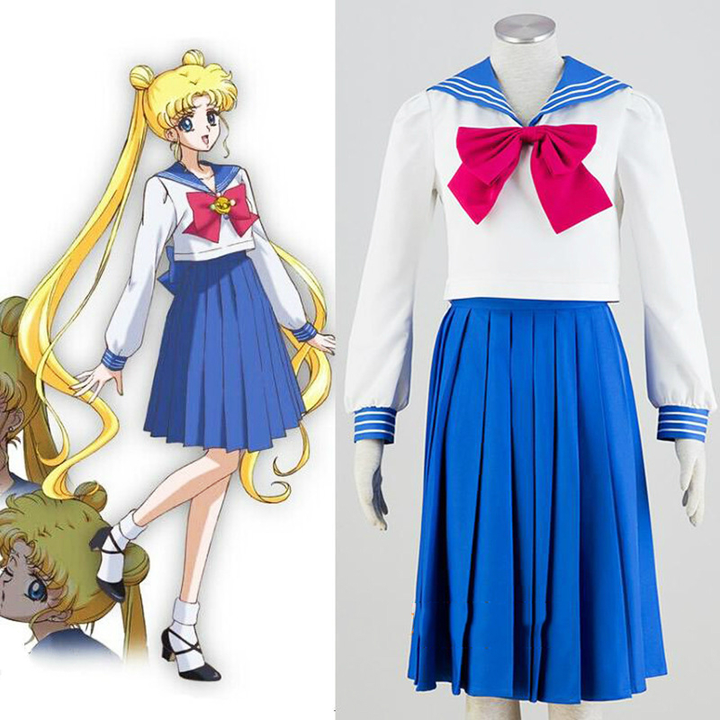 Anime Cosplay for Sailor Moon Japanese Cartoon Classical Vestidos Costume for Women Dress in Halloween Carnival Party