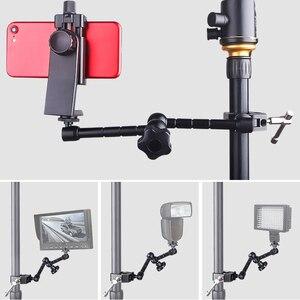 Image 5 - Регулируемый фрикционный шарнирный кронштейн 11 дюймов + Супер Зажим для SLR ЖК монитора, светодиодный светильник, аксессуары для камеры