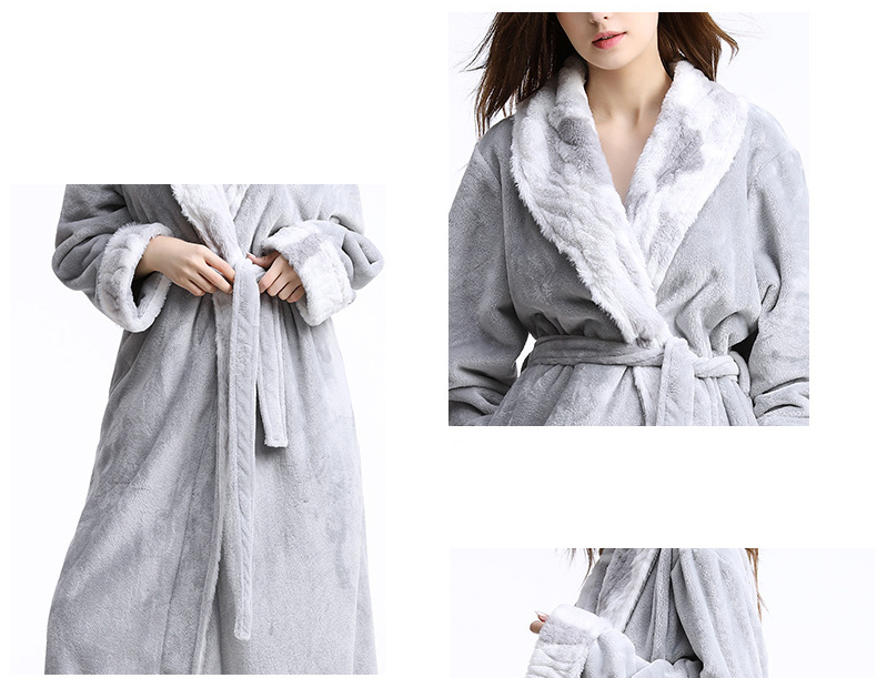 b7b5386a0df High Quality Women Bathrobe Winter Thick Warm Dressing Gown Coral Velvet  Kimono Bath Robe Peignoir Femme Night Gown Sleepwear