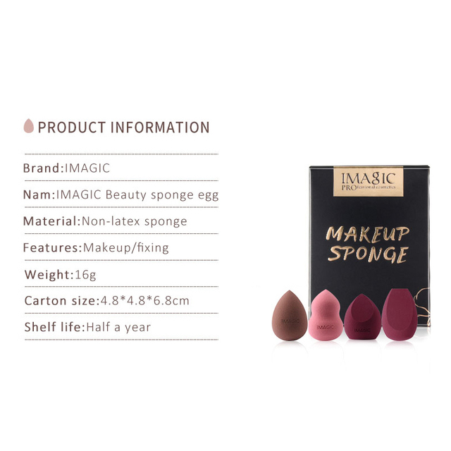 Makeup Foundation Sponge Makeup Cosmetic Puff Powder Smooth Beauty Cosmetic Makeup Sponge Puff for Beauty Accessories Maquillage 4
