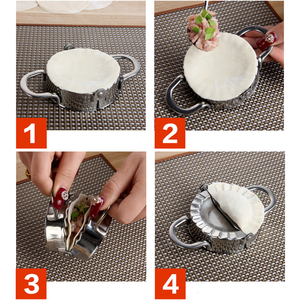 Tools stainless steel wraper dough cutter pie ravioli dumpling mould -  High Quality Stainless Steel 304 Dumpling Maker Wraper Dough Cutter Pie Ravioli Dumpling Mould Pastry Set