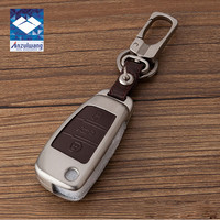 ANZULWANG Zinc Alloy Leather Remote Key Holder Case Cover For Audi A1 A3 A4 A5 Q3